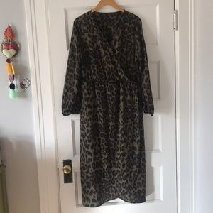 Amazon | XL | Animal Print Faux Wrap Dress